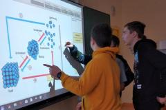 unser whiteboard im Einsatz (PTS Techn. Seminar,  Feb 19)